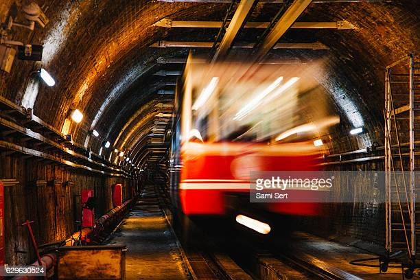 Old subway tunnel in Istanbul