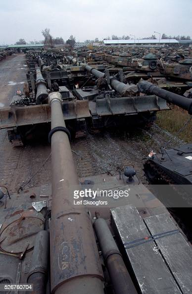 Obsolete Tanks Awaiting Transport Pictures Getty Images