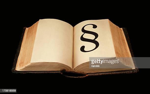 Alte dicke Buch mit Ziffer-Symbol