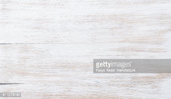 Old threadbare white painted wooden texture, wallpaper or background : Stock Photo
