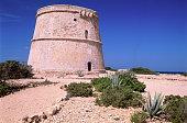 Old tower near Sant Antony on the island of Ibiza, Spain