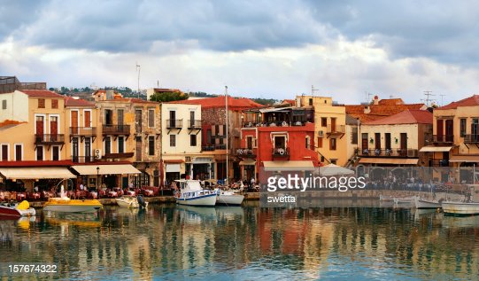 Old town by the sea. Rethymnon