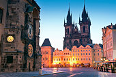 Antiga Câmara Municipal, igreja de nossa senhora de Týn, Praga