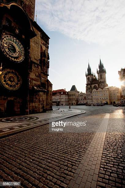 Old Town Hall Old Town Square And The Church Of Our Lady Before Tyn Prague At Sunrise Czech Republic