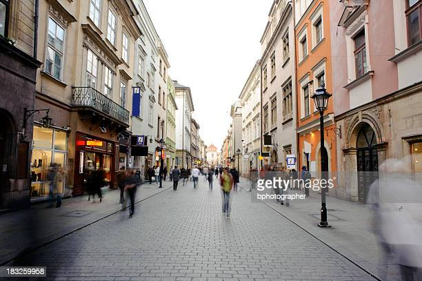 Old Town in Krakau, Florianska street