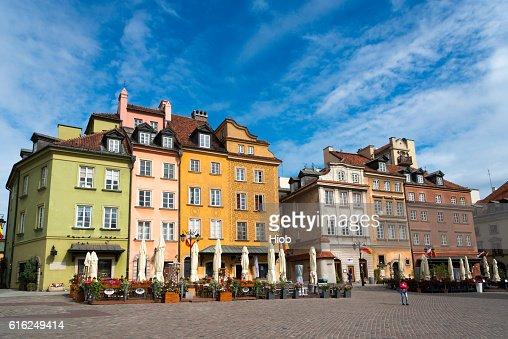 Cidade Velha de Varsóvia : Foto de stock
