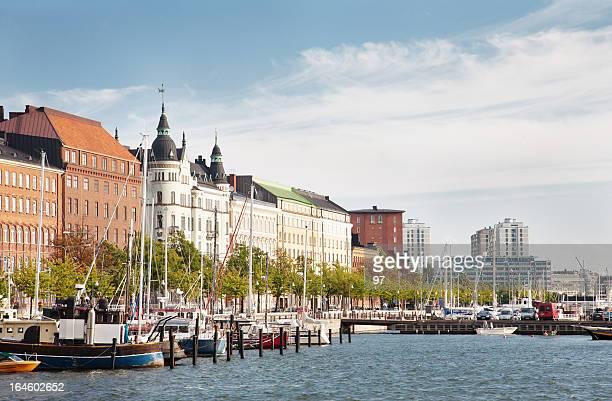 Old Town pier in Helsinki, Finland.