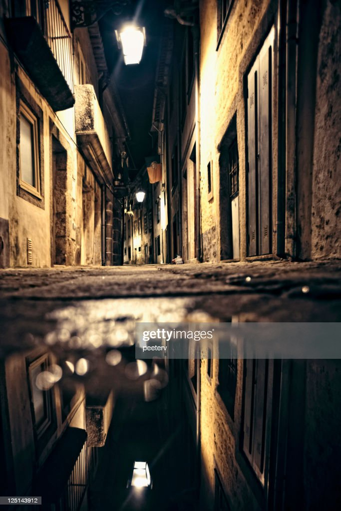 Old town reflection. : Stock Photo
