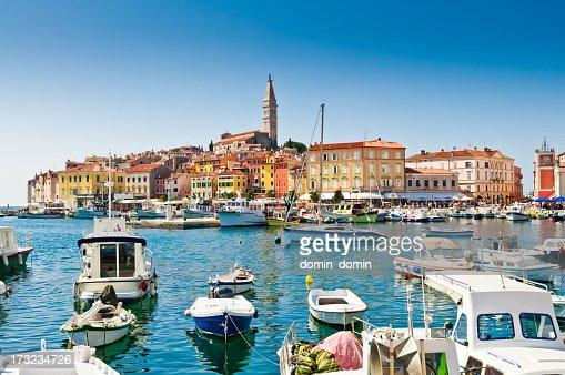 Old town, Rovinj Harbor, Croatia