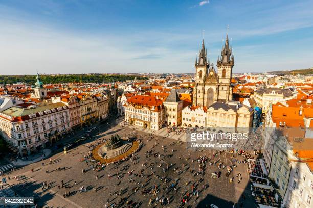 Old Town Square high angle view, Prague, Czech Republic