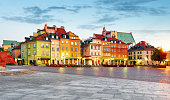 Old town square, Warsaw, Poland.
