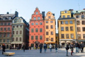 Old Town Stockholm Sweden Many tourist visit this place This is next to the Swedish Castle