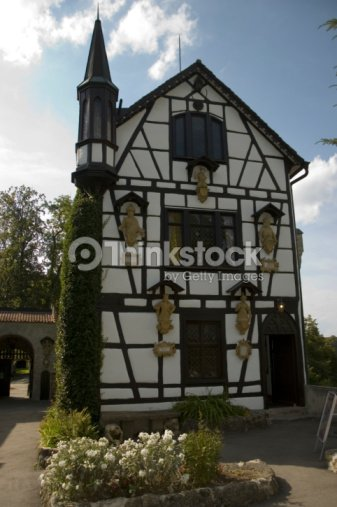 German House Designs: Old Traditional German House Stock Photo