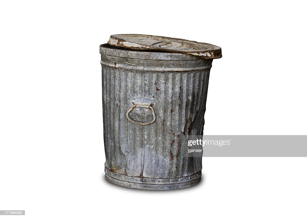 old trashcan clipping path