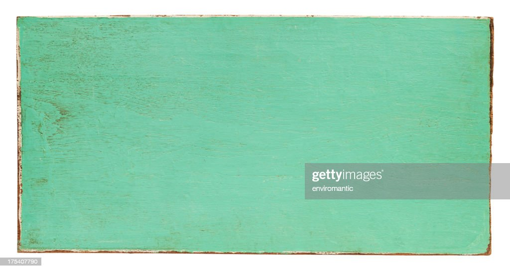 Old turquoise wooden panel background. : Stock Photo