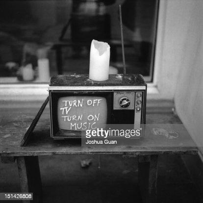 Old TV : Stock Photo