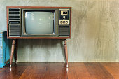 Retro television in the old room