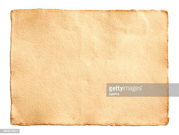 Old unfolded scroll of brown paper