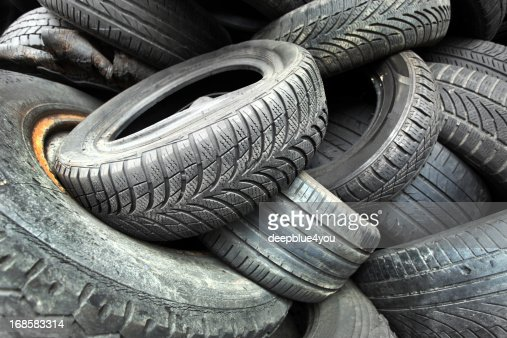 old used car tires stock photo getty images. Black Bedroom Furniture Sets. Home Design Ideas