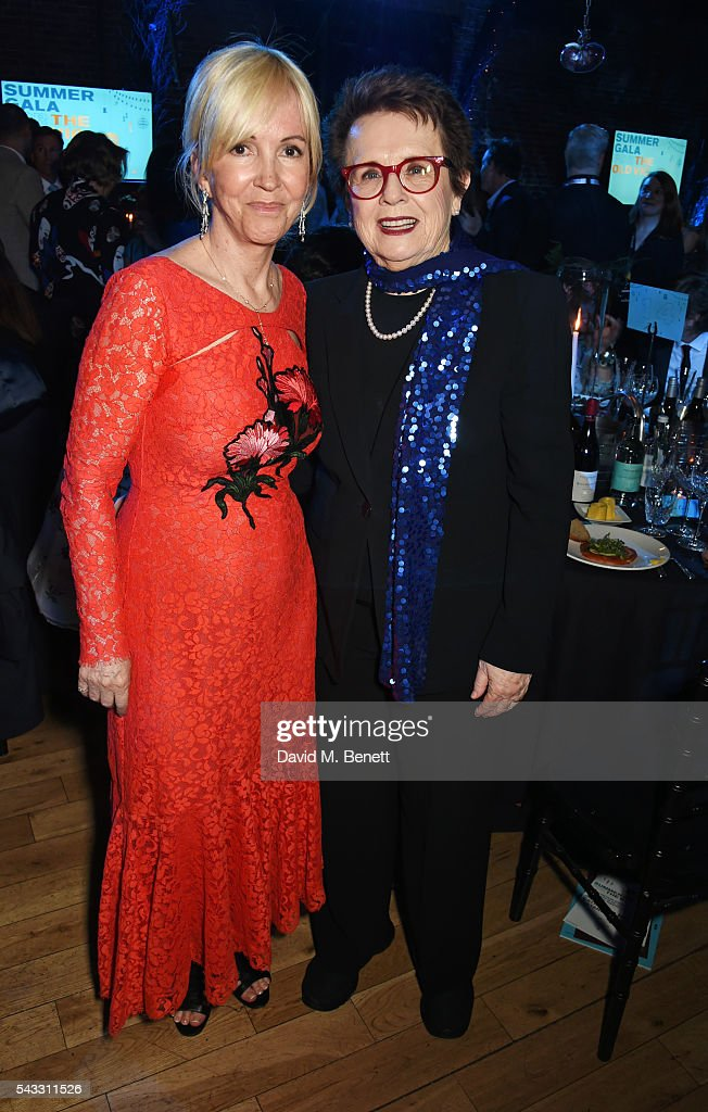 Old Vic CEO Sally Greene (L) and <a gi-track='captionPersonalityLinkClicked' href=/galleries/search?phrase=Billie+Jean+King&family=editorial&specificpeople=93147 ng-click='$event.stopPropagation()'>Billie Jean King</a> attend the Summer Gala for The Old Vic at The Brewery on June 27, 2016 in London, England.