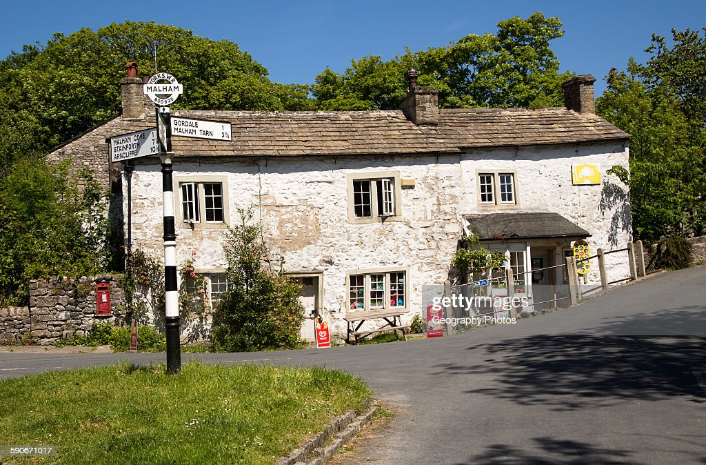 Old Village Shop In Malham Yorkshire Dales National Park England UK