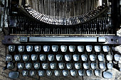 Photo of an old, vintage and dirty typewriter