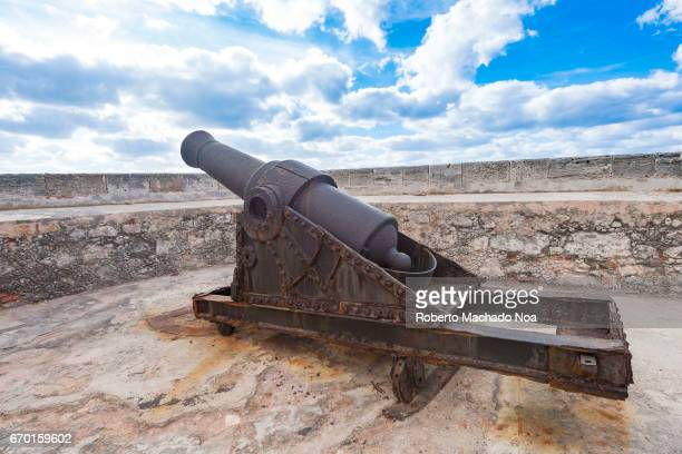 Old vintage colonial cannon at 'El Morro' Spanish fortress Morro Castle named after the three biblical Magi is a fortress guarding the entrance to...