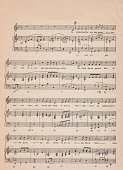 old sheet music - scanned from a 150 year old partiture