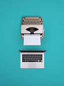 And old typewriter vs a new laptop
