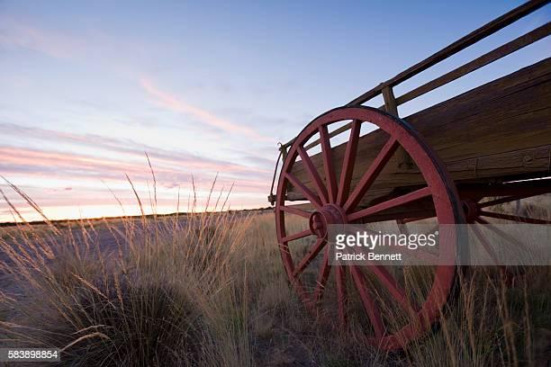 Old wagon at Estancia El Deseado in Patagonia