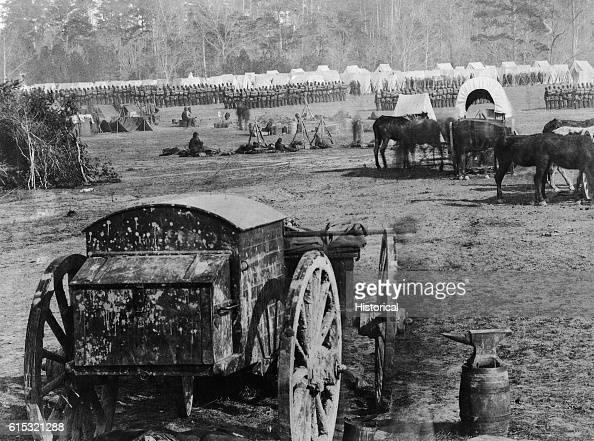 Old Wagon at Military Camp