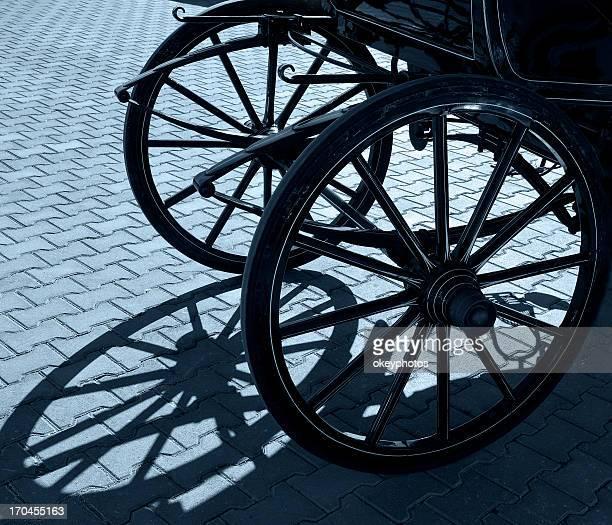 Old Wagon Wheel and shadow