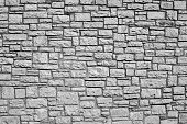 old wall from a stone brick of gray color for the abstract textured backgrounds and for wallpaper