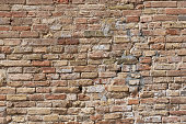 Old wall made of bricks as a background
