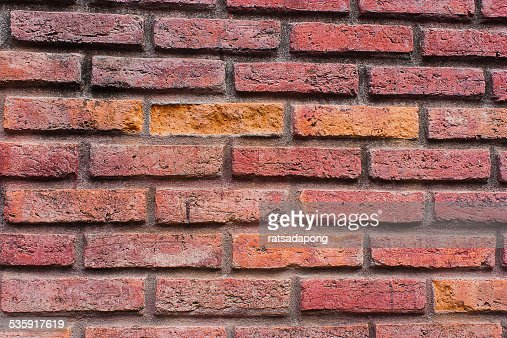 old walls of brick red : Stock Photo