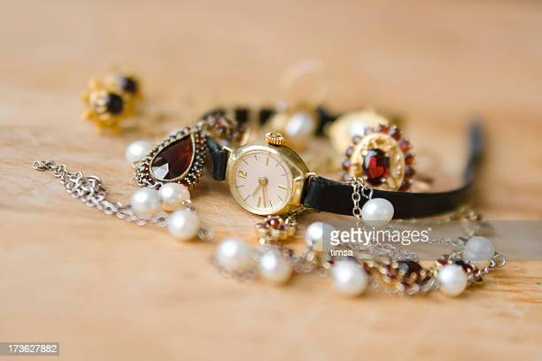 Old watch and jewelry