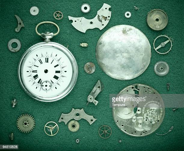 old watch's machinery