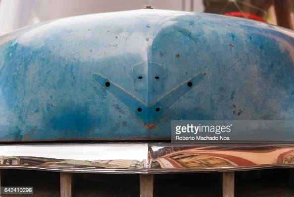 old weathered american buick car detail the logo of the pictures getty images. Black Bedroom Furniture Sets. Home Design Ideas