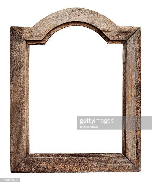 Vieux usé cadre en bois naturel.