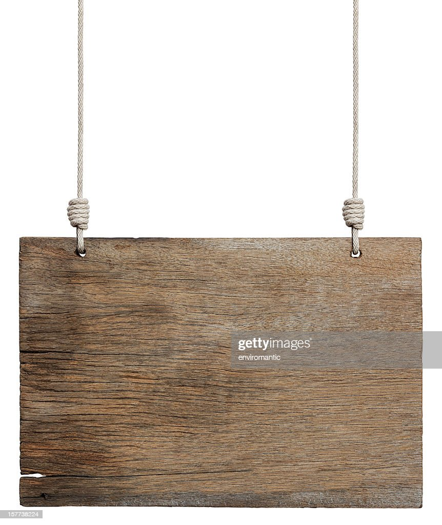 Alten verwitterten Holz Schild. : Stock-Foto