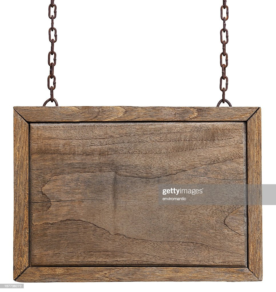 Old weathered wood signboard. : Stock Photo