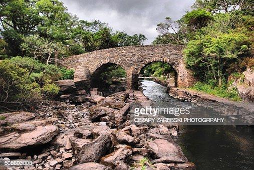 Old Weir Bridge / Killarney National Park : Foto de stock