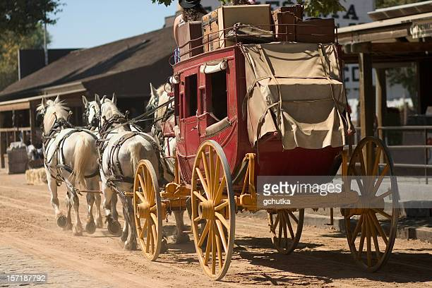 Old western stagecoach from the 1800s