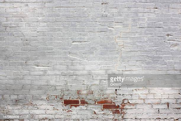 Old White Brick Wall Background Wallpaper