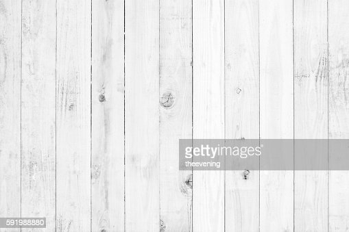 old white painted wood for background : Stock Photo