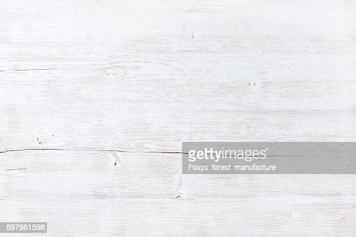Old white painted wooden texture, wallpaper or background : Stock Photo
