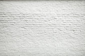 Texture of old dark white blocks, brick wall background.