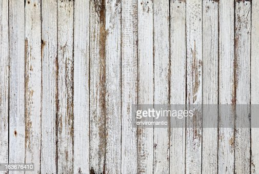 Old White Wooden Board Background Texture Stock Photo