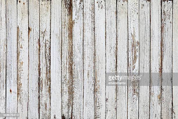 Old white wooden board background texture.