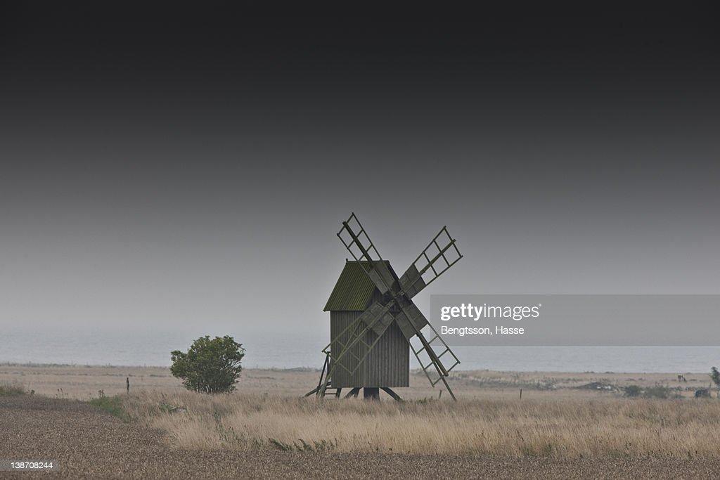 Old windmill on farm